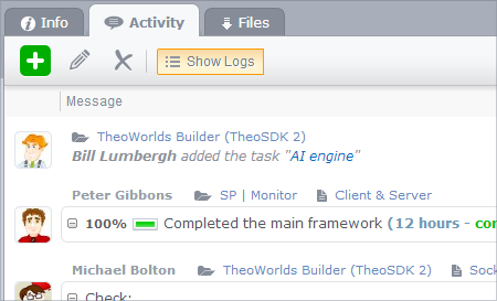 user logs