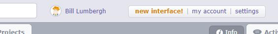new interface!
